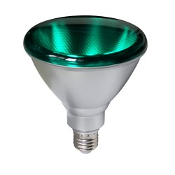 ΛΑΜΠΑ LED PAR38 15W E27 GREEN 240V Glou