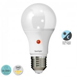 ΛΑΜΠΤΗΡAΣ LED E27 Day/Night Sensor 10W 6000K